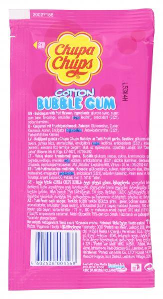 Chupa Chups Cotton Bubble Gum Tutti Frutti