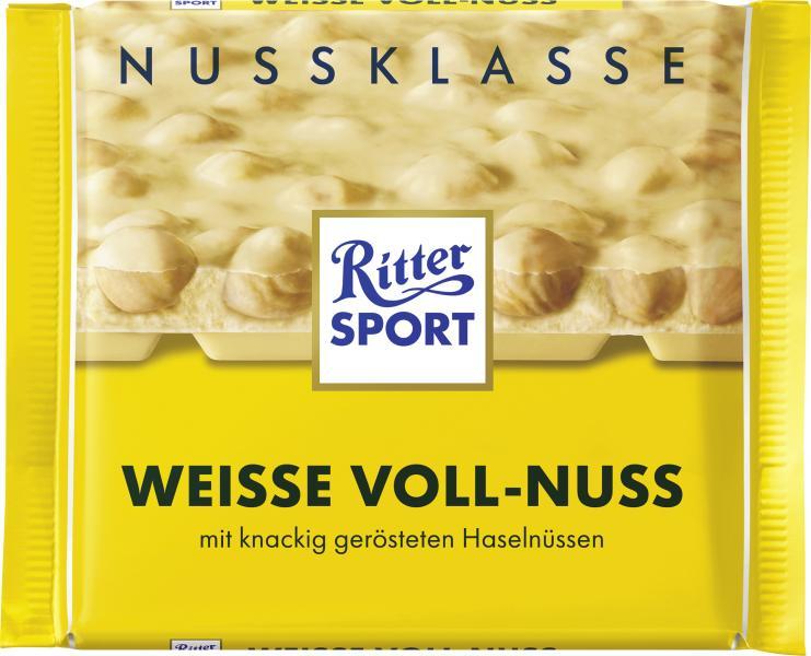 Ritter Sport Nussklasse Weisse Voll-Nuss