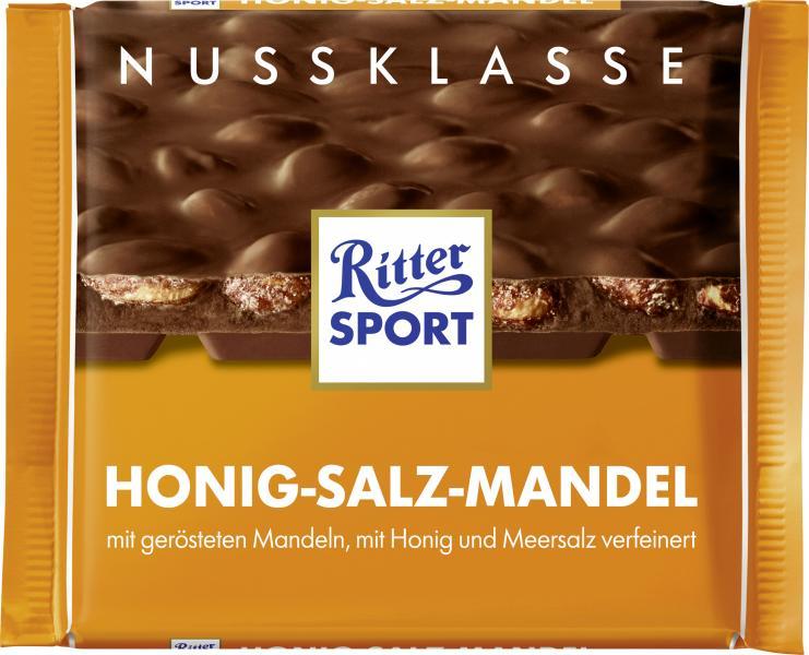 Ritter Sport Nussklasse Honig-Salz-Mandel