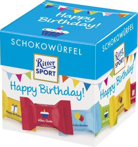 Ritter Sport Schokowürfel Happy Birthday