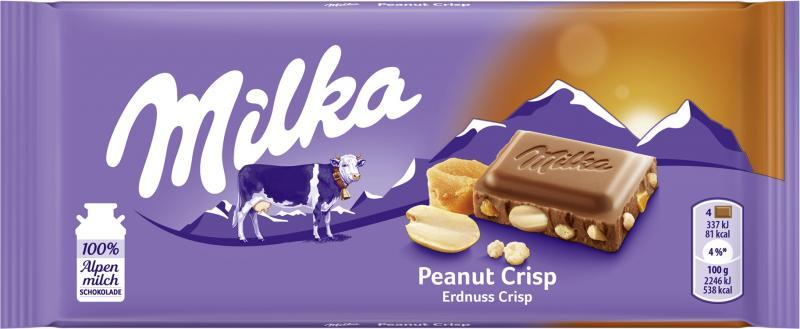 Milka Tafel Erdnuss Crisp