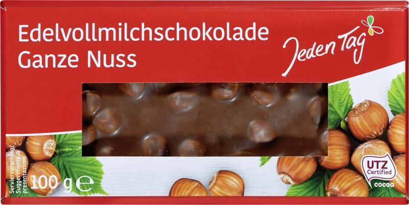 Jeden Tag Edelvollmilchschokolade Ganze Nuss