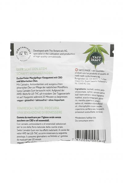 Taff Inaff Cannabis Kaugummi Mint