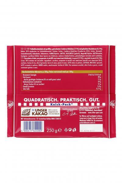 Ritter Sport Beerenstark Cranberry Nuss
