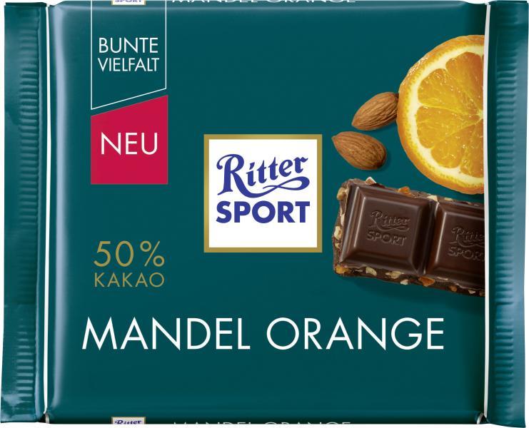 Ritter Sport Bunte Vielfalt Mandel Orange