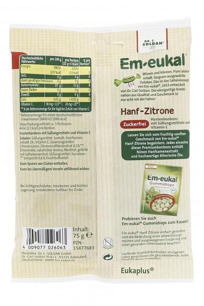 Em-eukal Hustenbonbons Hanf-Zitrone zuckerfrei