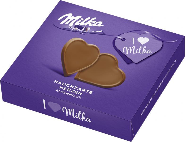 Milka Täfelchen Hauchzarte Herzen Alpenmilch