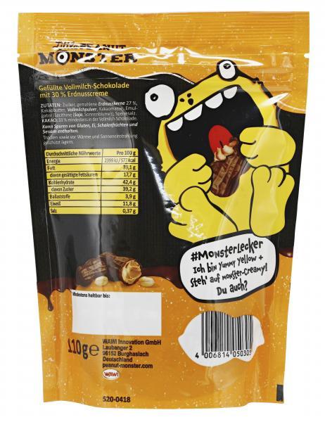 Little Peanut Monster Schoko Peanut Butter Nuts Creamy
