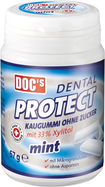 Doc's Dental Protect Kaugummi ohne Zucker mint