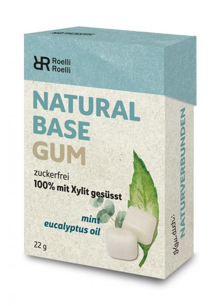 Roelli Natural Base Gum Mint Eucalyptus Oil zuckerfrei