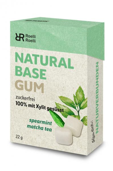 Roelli Natural Base Gum Spearmint Matchatee zuckerfrei