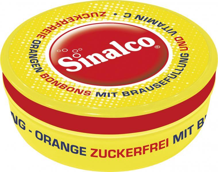 Sinalco Orangen Bonbons mit Brausefüllung zuckerfrei