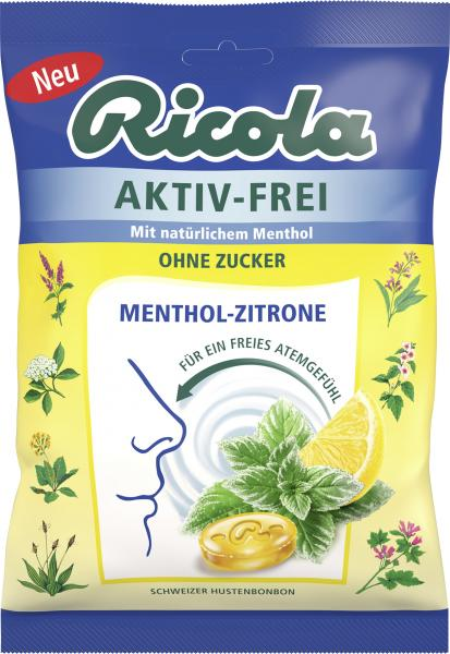Ricola Aktiv-Frei Menthol-Zitrone ohne Zucker