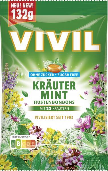 Vivil Hustenbonbons Kräuter Mint ohne Zucker