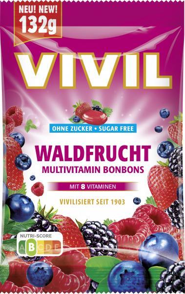 Vivil Multivitaminbonbon Waldfrucht ohne Zucker