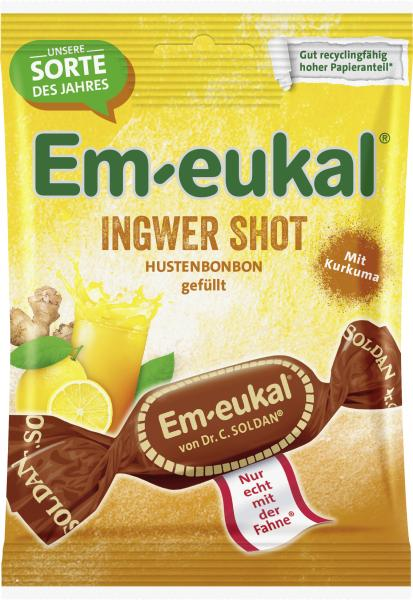 Em-eukal Hustenbonbons Ingwer-Shot mit Kurkuma