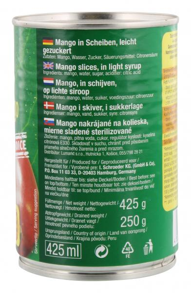 Gold Berry Mango Scheiben gezuckert