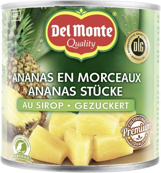 Del Monte Ananas Stücke in Sirup gezuckert