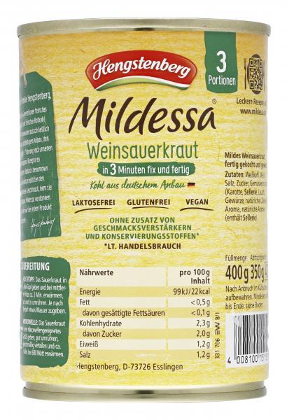 Hengstenberg Mildessa 3 Minuten Weinsauerkraut
