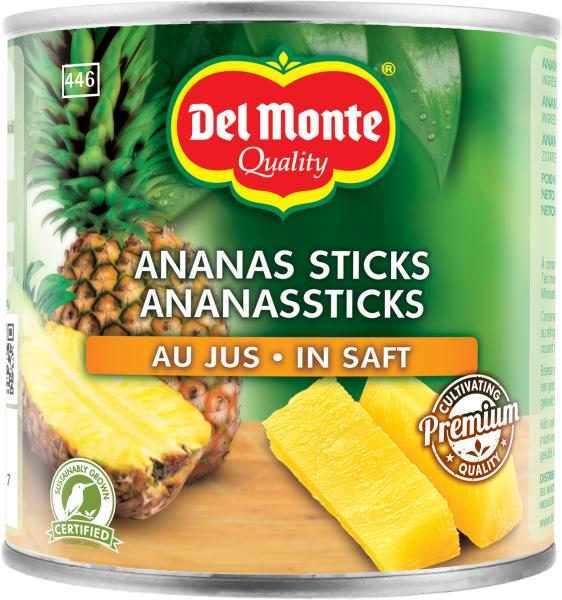 Del Monte Ananassticks in Ananassaft