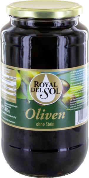 Royal del Sol geschwärzte Oliven ohne Stein