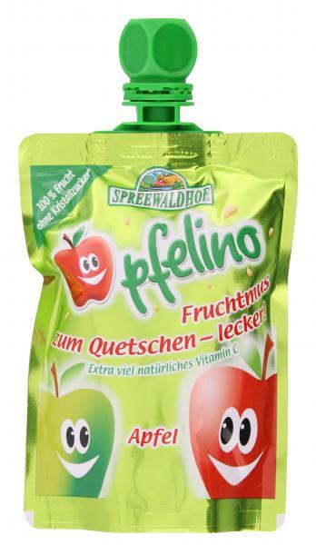 Spreewaldhof Pfelino Fruchtmus zum Quetschen Apfel