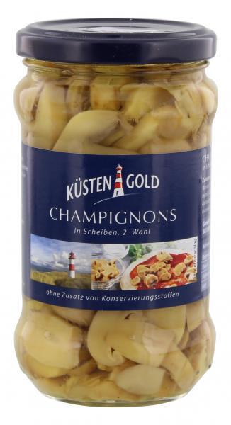 Küstengold Champignons in Scheiben 2. Wahl