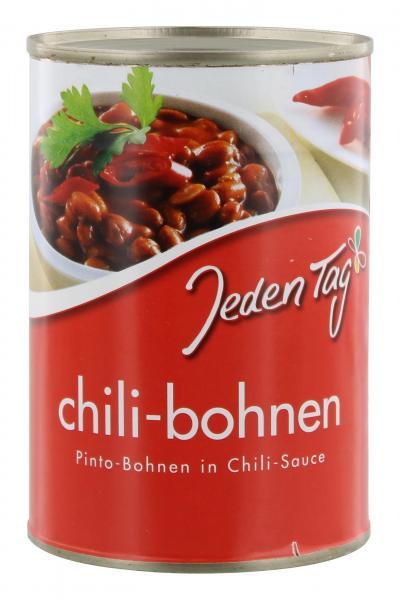 Jeden Tag Chili-Bohnen in Chili-Sauce