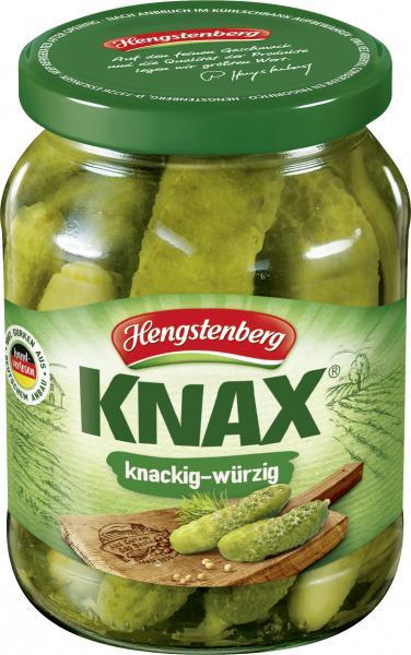 Hengstenberg Knax Gewürzgurken knackig & würzig