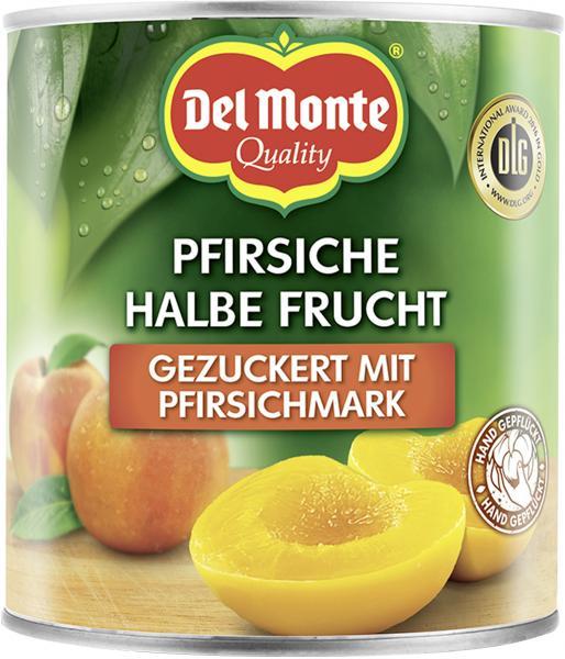Del Monte Pfirsiche halbe Frucht gezuckert