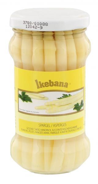 Ikebana Spargel geschält weiß