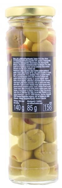 Iska Oliven grün gefüllt mit Paprikapaste