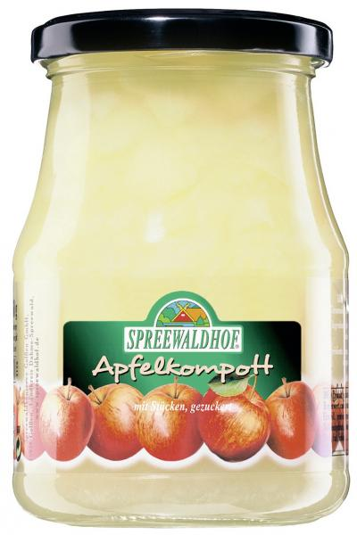 Spreewaldhof Apfelkompott mit Stücken gezuckert