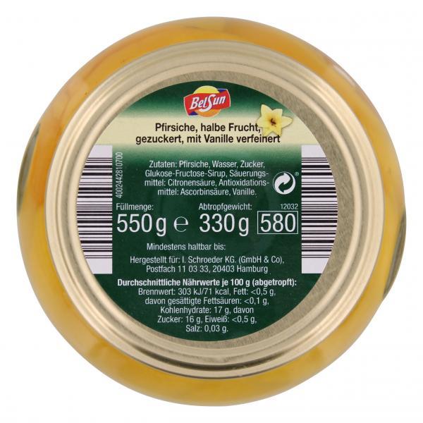 BelSun Pfirsiche mit Vanille verfeinert