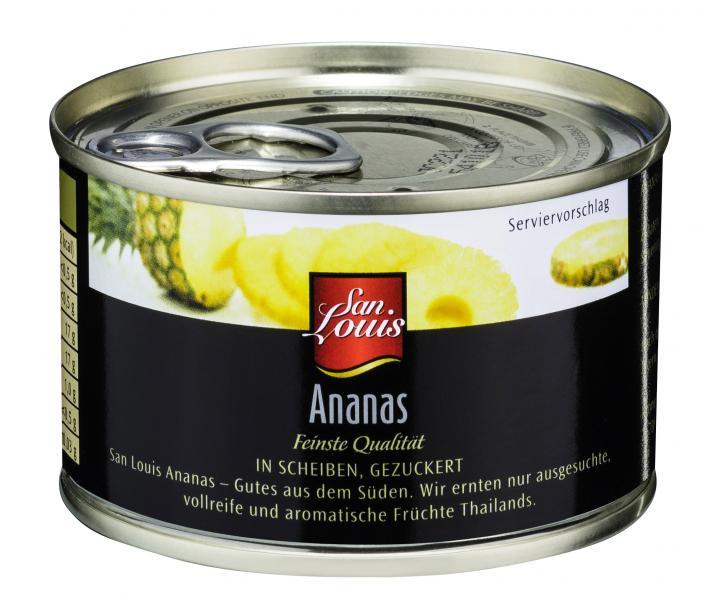 San Louis Ananas in Scheiben gezuckert