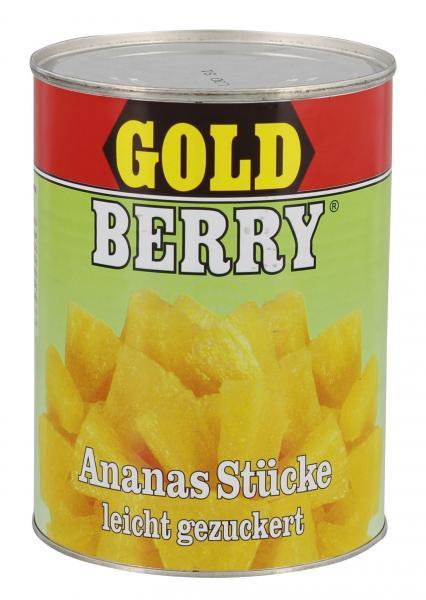 Gold Berry Ananas Stücke leicht gezuckert
