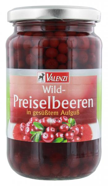 Valenzi Wild-Preiselbeeren in gesüßtem Aufguss
