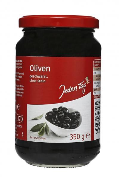 Jeden Tag Oliven schwarz ohne Stein