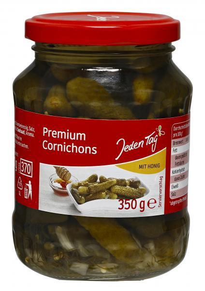 Jeden Tag Premium Cornichons mit Honig