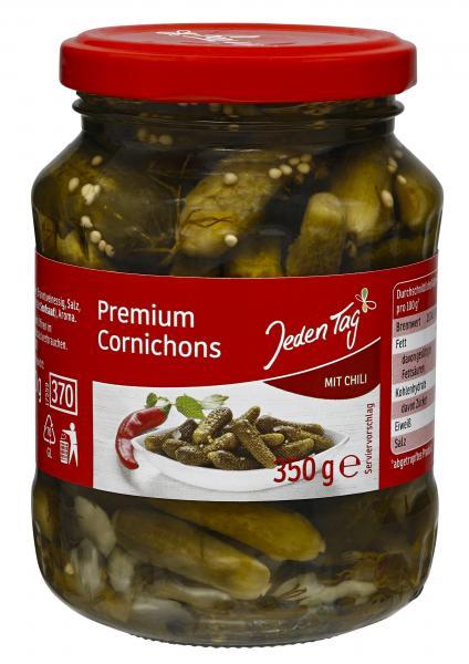 Jeden Tag Premium Cornichons mit Chili