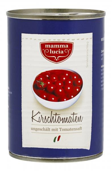Mamma Lucia Kirschtomaten ungeschält mit Tomatensaft