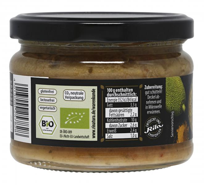 Rinatura Bio Foodie Lifestyle Curry Sri Lankan Style Jackfrucht