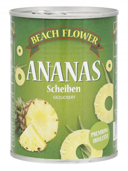 Beach Flower Ananas Scheiben gezuckert