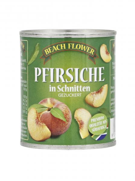Beach Flower Pfirsiche in Schnitten