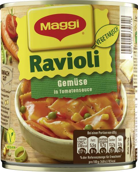 Maggi Gemüse Ravioli ohne Fleisch