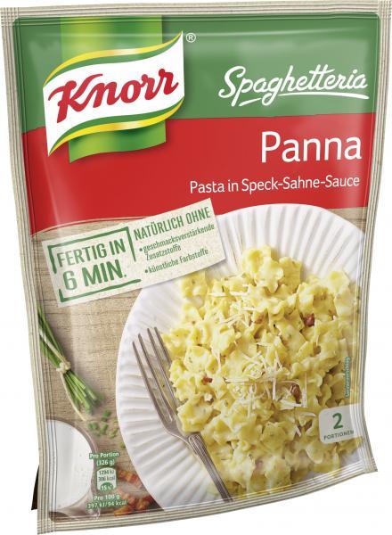Knorr Spaghetteria Panna Pasta in Speck-Sahne-Sauce
