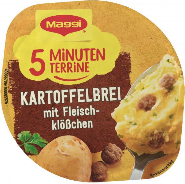 Maggi 5 Minuten Terrine Kartoffelbrei mit Fleischklößchen
