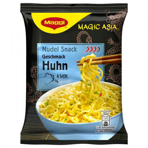 Maggi Magic Asia, Instant Nudel Snack Huhn
