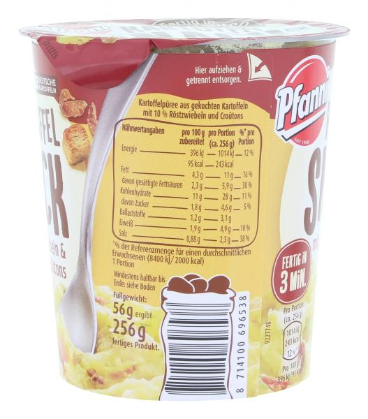 Pfanni Kartoffel Snack mit Röstzwiebeln & Croûtons