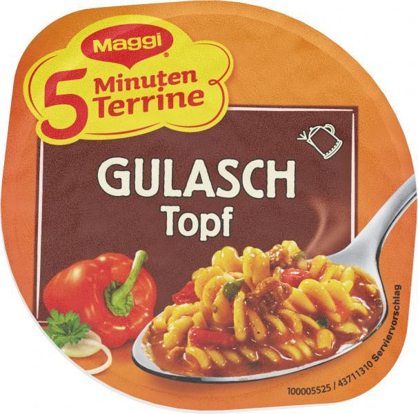 Maggi 5 Minuten Terrine Gulaschtopf